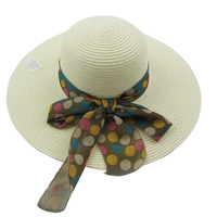 Large brim bow flower straw hats made in mexico