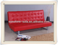 Dubai Modern Home Red Leather Foldable Sofa Bed