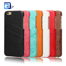 Card Vintage Cases Series Premium Crocodile Pattern PU Leather Case Wallet Back Cover For iPhone 7 Case