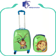 Hot sale cute JD monkey printed cheap kids luggage
