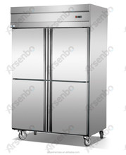 4 doors Commercial Refrigerator/kitchen refrigeration equipment/commercial stainless steel fridge