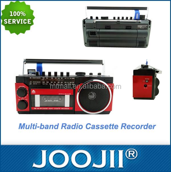 AM/FM/SW 3BAND RADIO CASSETTE RECORDER with USB/SD FUNCTION