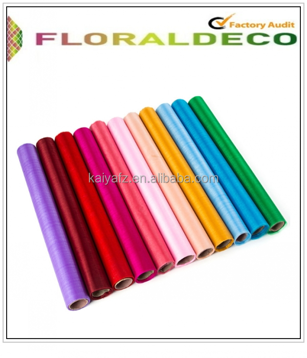 Wholesale 29cm x 25m Colorful 100% <strong>Nylon</strong> Snow Organza Roll