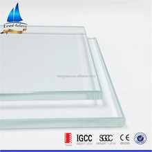 High safety clear / ultra clear tempered glass toughened glass
