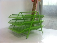 Green Metal Mesh Document Tray HT-8101