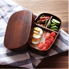 Bamboo Wood Leakproof Bento Lunch Box In Dinnerware Set