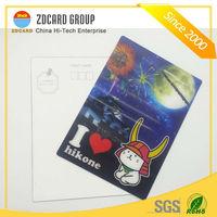 3D Lenticular Plastic Card Postcard