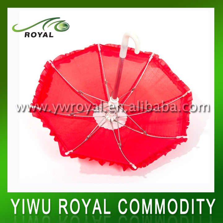 Decorative Small Red Umbrella Toy For Kids
