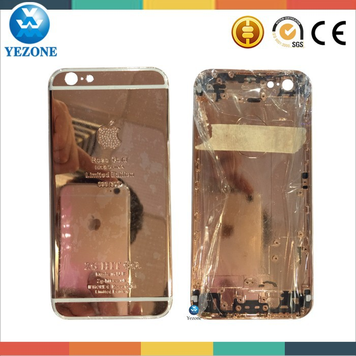 High Quality For Iphone 6 24k Gold Housing, 24k Gold For Iphone 6 Housing Back Cover For Apple, For Iphone 6 Back Housing