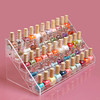 Clear acrylic nail polish holder small display stand rack organizer table