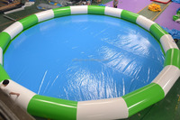whole sale cheap price giant round or square or rectangular inflatable swimming pool/inflatable pool