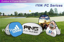charity&sports events&golf days Pop out banner sign a frame pop up stand