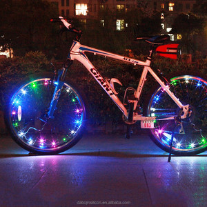 Wholesale Bicycle Accessory LED Color-Changeable Wheel Light Bicycle Spoke Light(CE&RohS)