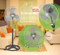 New design noiseless 18 inch 3 IN 1 rechargeable industrial high speed crown stand fan
