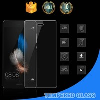 Wholesale !! Ultra thin custom waterproof smart phone tempered glass screen protector for Huawei P8 lite/mini screen protector