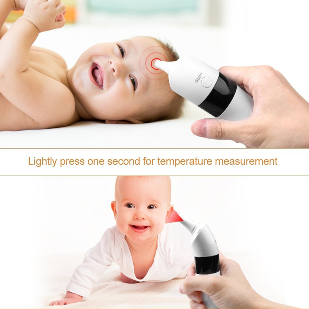 Medical Infrared Baby Forehead and Ear Thermometer - the Authentic FDA Approved Professional Thermometer