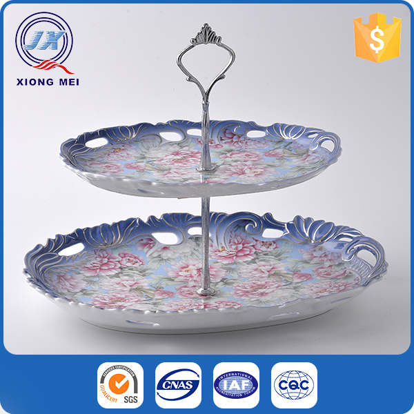 Restaurant porcelain colorful dish hotel tableware for candy decorated