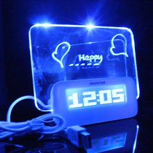 Zogift china suppliers 2018 hot sale Desktop LED message memo board alam clock