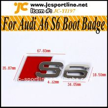 Genuine A6 S6 RS6 Chromed Rear Badge Emblem,S6 Car Sticker For Audi A6