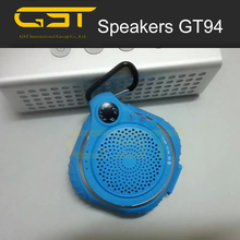 Good sound quality factory price stereo 12w hang up mini shower speaker waterproof bluetooth speaker aj94