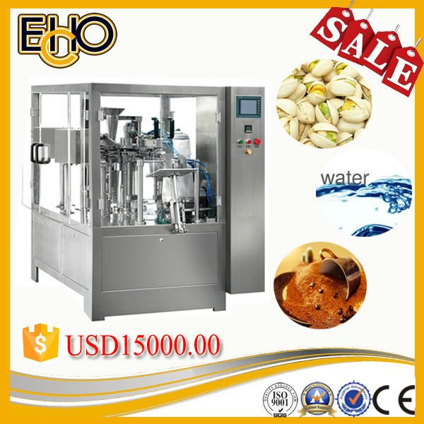 New cheap effective full automatic rotary flat bottom bag butter bagger tray pack machine