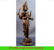 Custom hindu antique resin wholesale goddess kali maa statue