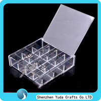 custom plexiglass container for candy acrylic bulk candy store containers with divider acrylic candy box good quality cheap