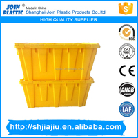 Popular storage hinged plastic nesting crates for moving company