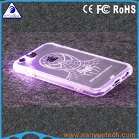 Transparent Matte Soft Flexible Silicon Light Up Led Phone Case for iPhone 5 5s Cover