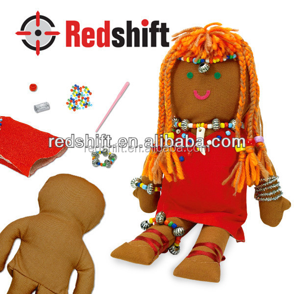 DIY kit toy Create your own Culture Doll African doll
