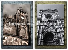 multi panel canvas prints of modern building