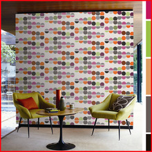 Colorful Circle Design Non-woven Wallpepr Wallcovering