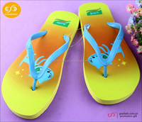 Guangzhou shoes factory wholesale summer beach soft eva flip flops