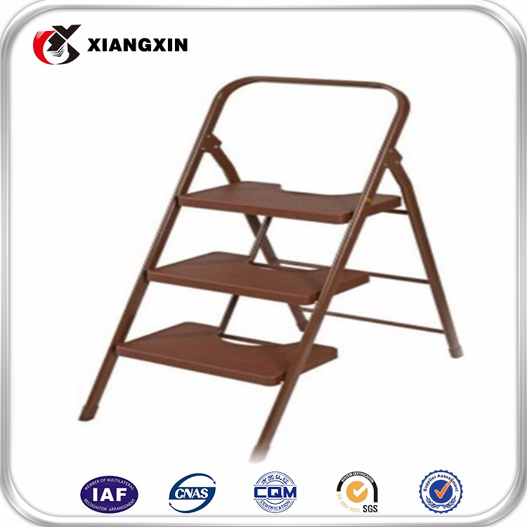 3 step monkey ladder with handle,plastic feet for ladder