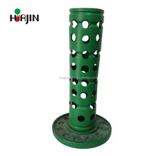 Unique plant pots Factory price flower tower pole plastic pot