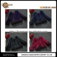 2016 Winter Genuine Raccoon Fur Coat For Women