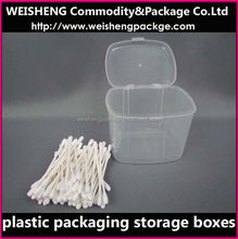 Wholesale clear cosmetic box/small round plastic containers/PP Cosmetics case