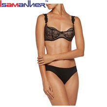 Ladies sexy net bra sets transparent indian fancy bra bra panty