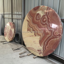 Natural onyx stone round table top design