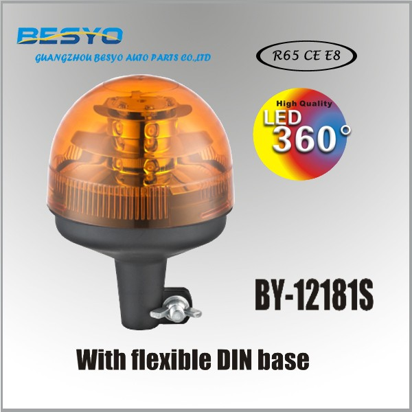 High Performance rotating beacons with flexible DIN base, R65 approval BY-12181S