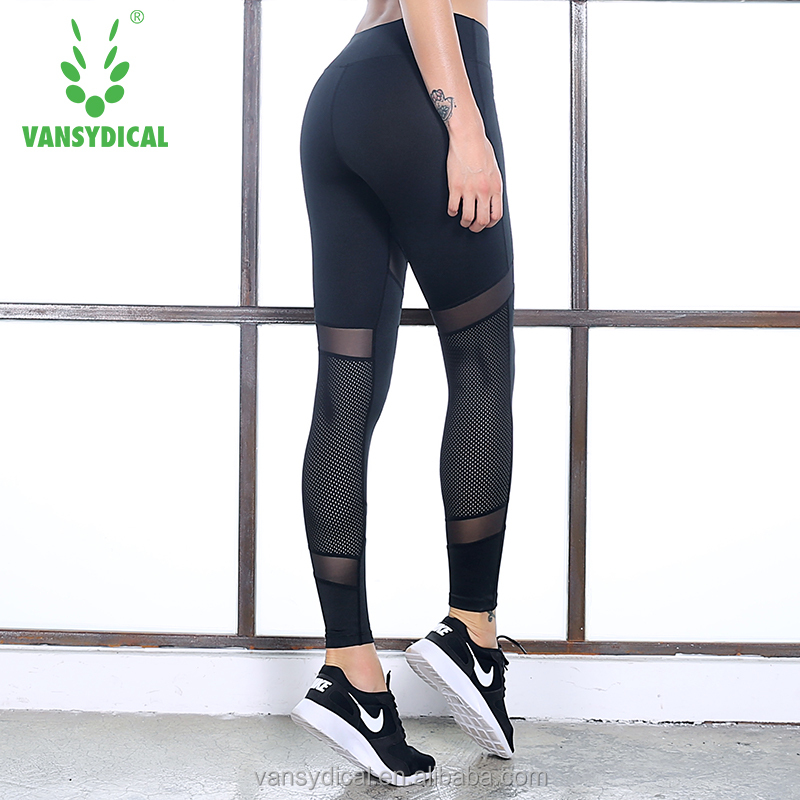 Women Sports Fitness Yoga Pants Mesh Leggings Wholesale Custom Jogger Pants