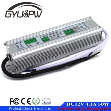 DC12V 4.1A 50W Waterproof IP67 Electronic LED Driver Power Supply Switching Transformer ac dc 12v SMPS For Outdoor Lighting