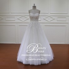 HD003 pleated tull wedding dresses layered ruffle red and white wedding dresses