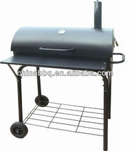 Trolley Barrel BBQ Meat Smokers For Sale KY1813B