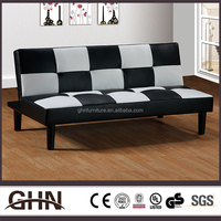 Alibaba furniture wholesale black and white leather sofa