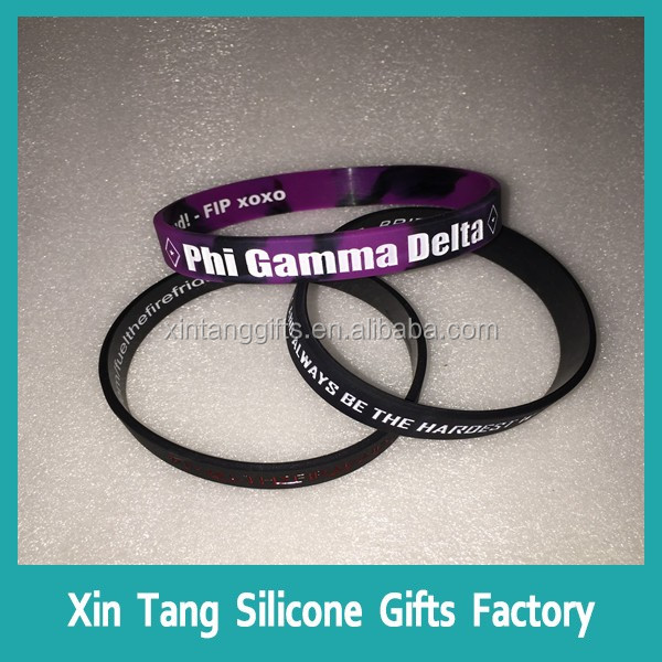 Unisex Gender and Bangles,Bracelets Jewelry Type Silicone College Bracelet