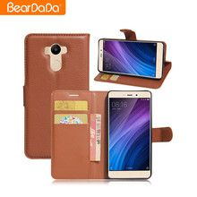 Top Sale flip leather for mi 4 cover phone case