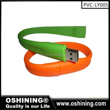 Cheap silicone bracelet USB flash drive, wholesale colorful 1 GB wristband USB memory stick (PVC-LY005)