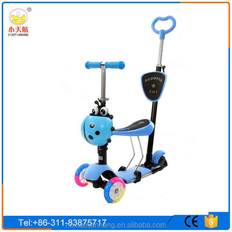 New model high quality three wheels kick kids scooter/3 in1 5 in1 child scooter toys for child/kids scooter with optional color