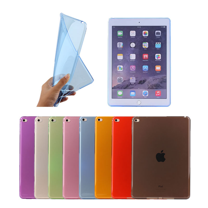 Most Popular Selling Low Price Mini Ultra Thin Soft Tpu Case For iPad Mini 4, 8 Colors Available